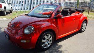 Vw Beetle convertible rojo en renta en la Ciudad de Mexico