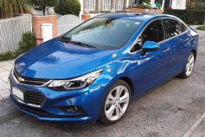 Chevrolet Cruze Azul en renta en la Ciudad de México