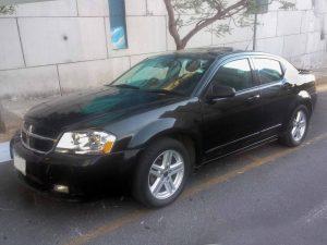 Dodge Avenger Negro en renta en la Ciudad de México