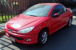 Peugeot 2066 Rojo convertible en renta en la Ciudad de México