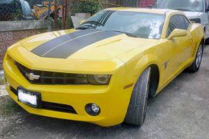 Renta Chevrolet Camaro Amarillo en renta