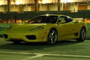 Ferrari 360 amarillo en renta en la Ciudad de México