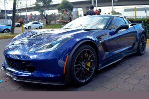 Renta Corvette Azul en la Ciudad de México