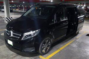 Renta camioneta mercedes benz clase v viano negra en la ciudad de méxico
