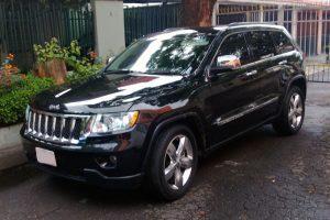 Renta jeep grand cherokee negra en la ciudad de mexico