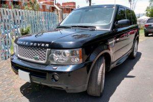 Renta Range Rover Sport negra en la ciudad de México