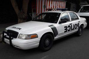 Renta patrulla americana blanca en la Ciudad de México para filmaciones