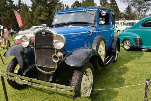 Renta ford victoria 1931 azul en la ciudad de mexico