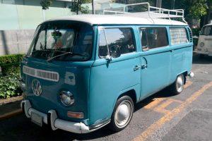Renta vw combi 70s azul en la ciudad de mexico