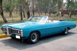 Renta pontiac bonneville 1968 azul en la ciudad de México