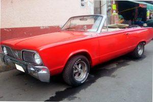 Renta valiant 1969 rojo convertible en ciudad de mexico