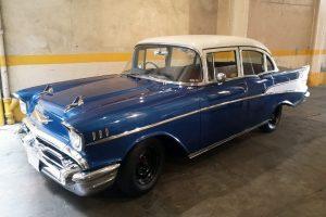 Chevrolet Bel Air Azul 1957 renta en cdmx