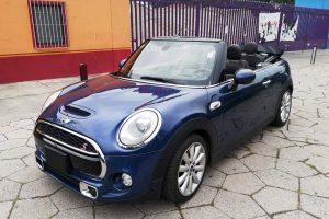 Mini Cooper Azul convertible renta en la cdmx